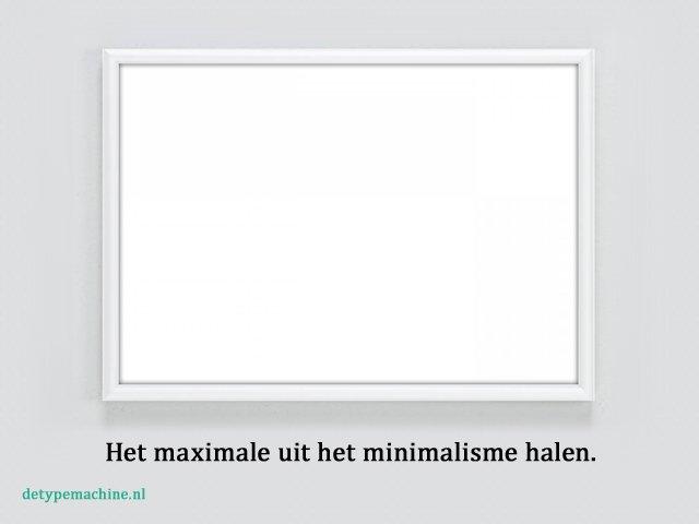 De Typemachine - Minimalisme